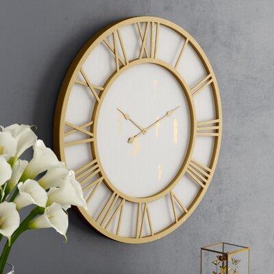 Darby Home Cottage Round Framed Wall Clock Millbury Wall Clocks