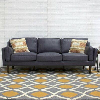 Union Rustic Leather Sofa Mid Sofas