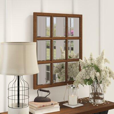 Wood Wall Mirror Windowpane 5758 Product Image