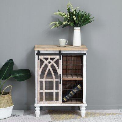 Gracie Oaks Sliding Wood Door Cabinet Decorative Chests Cabinets