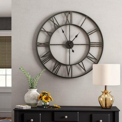 Charlton Home Roman No Iron Wall Clock Elborough Wall Clocks