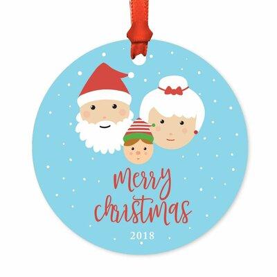 Merry Christmas, Santa Mrs. Claus with Elf Ball Ornament -  The Holiday Aisle, EEFC2919B63D4CC0A29C342BAFACA812