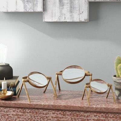 Trent Austin Design Magnifying Lenses Sculpture Set Glass Furniture