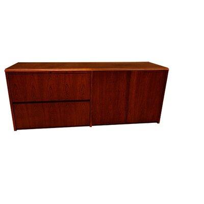 Carmel Lateral File Doors Credenza Desk Mahogany