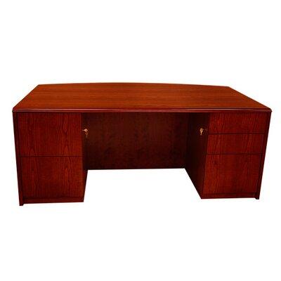 Carmel Double Pedestals Executive Desk Mahogany