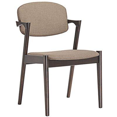 Modway Armchair Upholstery Walnut Latte