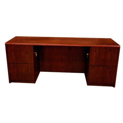 Carmel Executive Desk Double Pedestals Mahogany