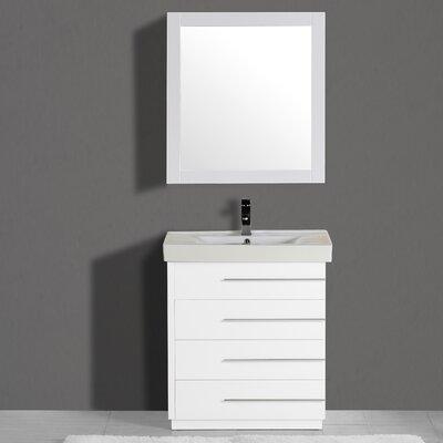 Adornus Single Vanity Set Mirror White