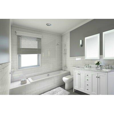 Ancerre Designs Double Bathroom Vanity Set Base White Top White
