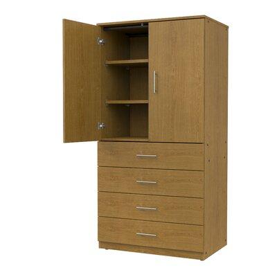 Marco Group Tall Storage Cabinet Door Non Locking Solar Oak Solar Oak