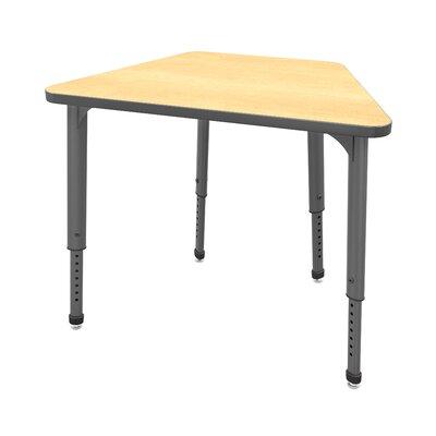 Classroom Desk Chair Set Wood Adjustable Height Trapezoid