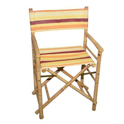 Bamboo54 Director Chair Set Bamboo Yellowstripe