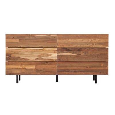 EQ3 Teak Drawer Double Dresser Eq