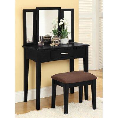 Hokku Designs Mirror Stool Set Vanity Dressing Tables
