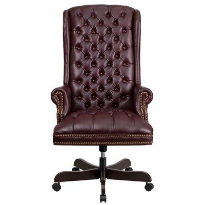 Canora Grey Clark Executive Chair Upholstery Burgundy