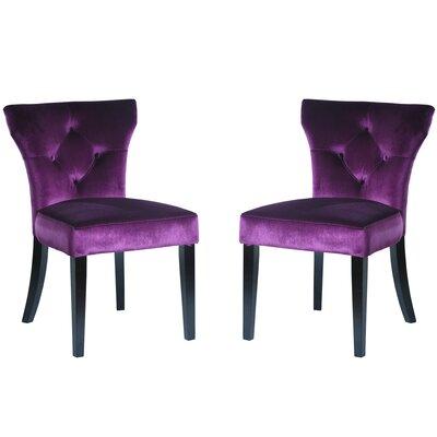 Armen Living Upholstered Dining Chair Upholstery Purple