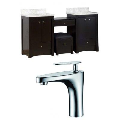 American Imaginations Double Bathroom Vanity Set