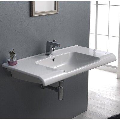 Cerastyle Anova Ceramic Rectangular Bathroom Sink Overflow Product Picture