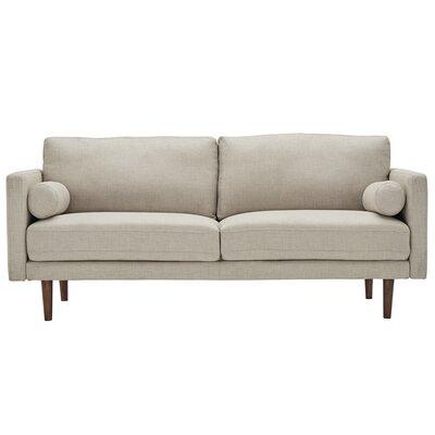 Mercury Row Tweed Fabric Tapered Leg Standard Sofa Oatmeal Sofas
