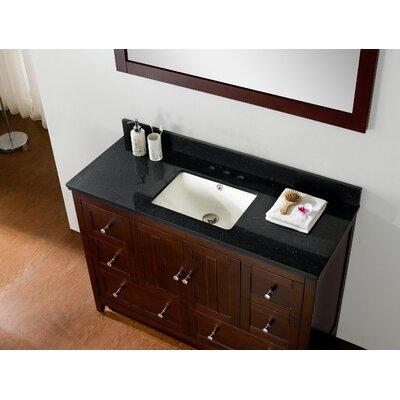 American Imaginations Bathroom Vanity Set Faucet Center Top Base Walnut