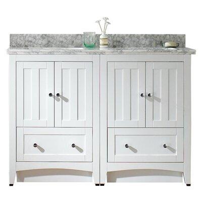 American Imaginations Bathroom Vanity Set Top Base White Faucet Center