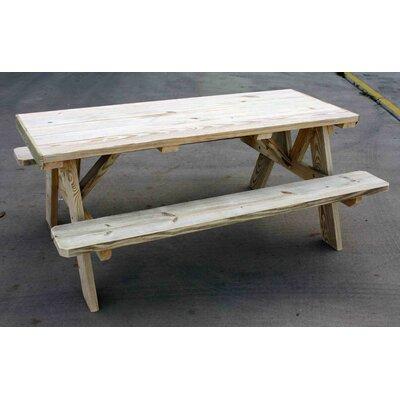 Cedar Wood Picnic Table Product Photo