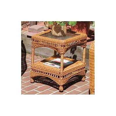 Wicker Warehouse Glass Side Table Golden Honey