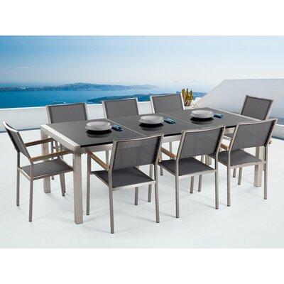 Home Loft Concepts Dining Set Chair Gray Black Granite