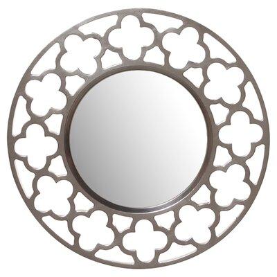Rosdorf Park Nickel Wall Mirror Round Mirrors