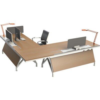 Rail Workstation Computer Desk Maple