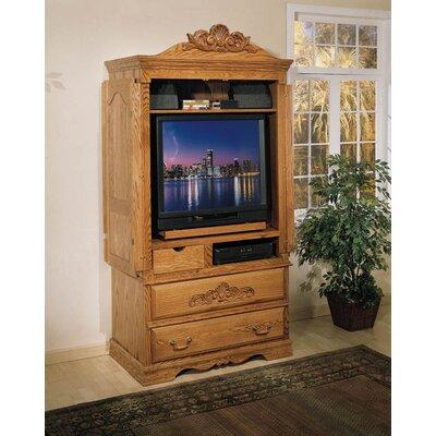 August Grove Large Tv Armoire Medium Wood