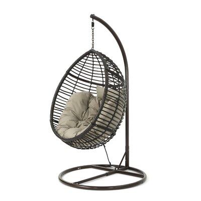 Brayden Studio Wicker Basket Swing Chair Stand Hammocks