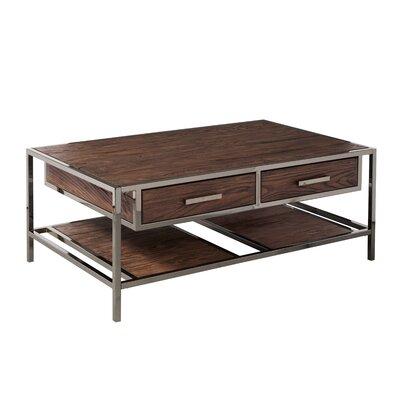 Brayden Studio Industrial Style Coffee Table Storage Modern Cocktail Table