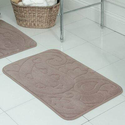 """Pelton Plush Memory Foam Bath Mat Color: Linen, Size: 20"""" W x 32"""" L -  Bath Studio, YMB002434"""
