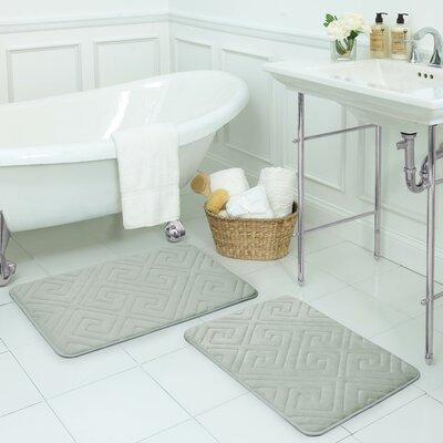 Caicos Small Premium Micro Plush Memory Foam Bath Mat Set -  Bath Studio, YMB003639