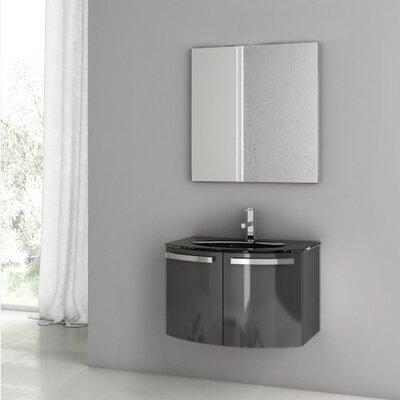 Acf Dance Single Bathroom Vanity Set Mirror