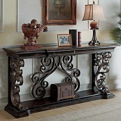 Console Table Dark Wood