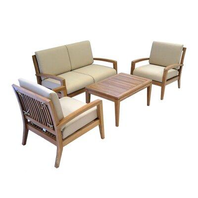 Ohana Depot Teak Sofa Set Cushions Depot