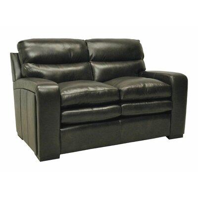 Wildon Home Leather Loveseat