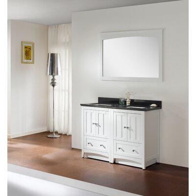 American Imaginations Bathroom Vanity Set Top Faucet Single Base White