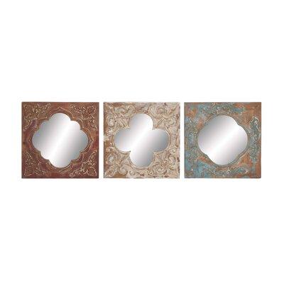 Mirror Wall Decor Set Wood 761 Product Image