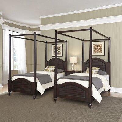 Beachcrest Home Traditional Framed Canopy Bedroom Set Espresso