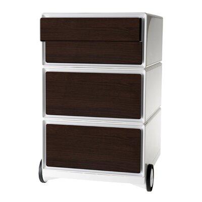 Paperflow Storage Cabinet White Wenge