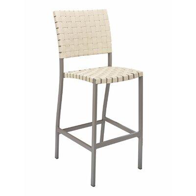 Florida Seating Bar Stool Frame Taupe Seat Khaki