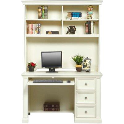 Beachcrest Home Computer Desk Hutch White