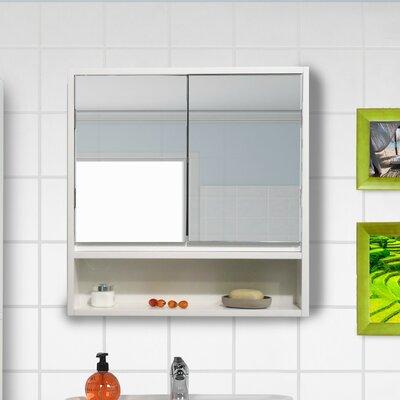 Evideco Surface Mount Framed Medicine Cabinet