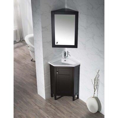 Dcor Design Corner Bathroom Vanity Set Mirror Single Vanities