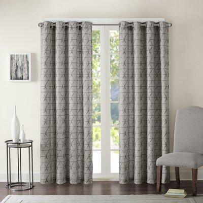 Beagle Geometric Semi-Sheer Grommet Single Curtain Panel -  Mercury Row, MROW1828 31780417