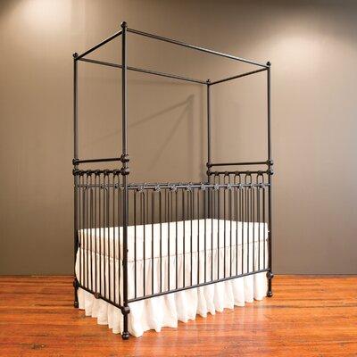 Bratt Decor Canopy Convertible Crib Black