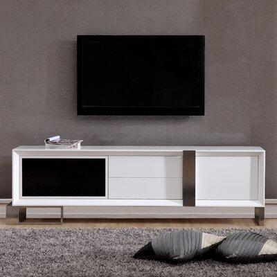 B Modern Tv Stand Tvs B Modern White Stainless Steel